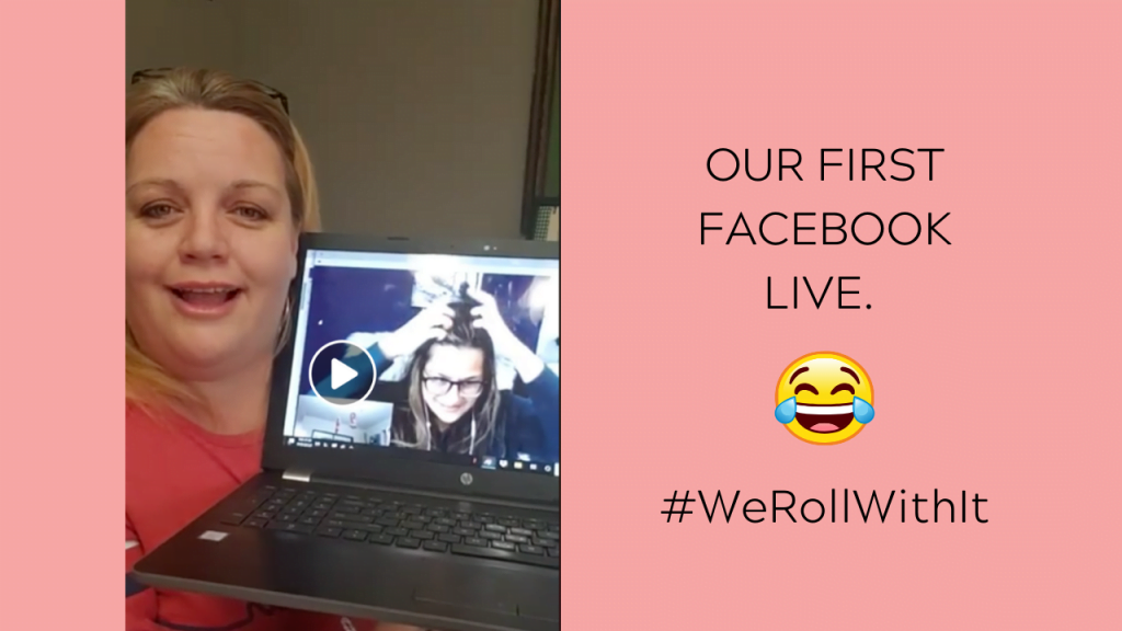 First facebook live with Anna Larson