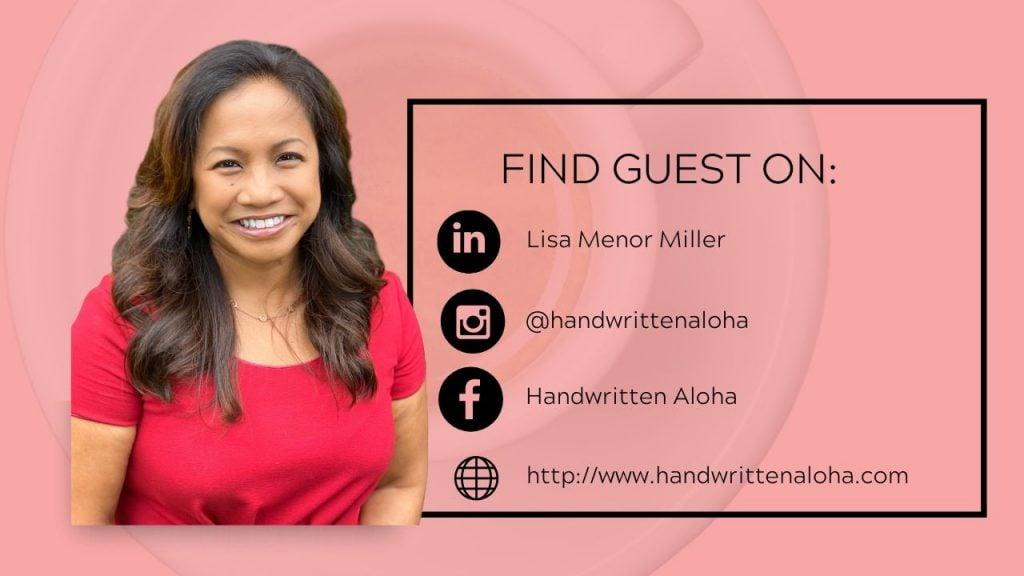 Find Lisa Miller of Handwritten Aloha here.