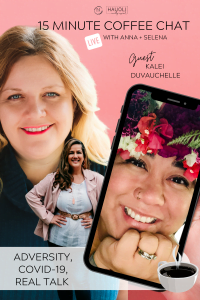 15 Minute Coffee Chat with Kalei Duvauchelle Pintrest Pin