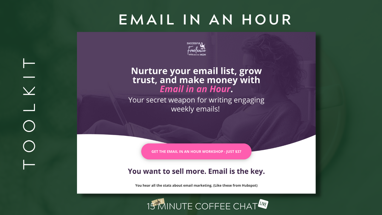 email in an hour graphic